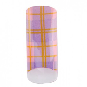 Airbrush Tips Diamond pattern in purple pink yellow