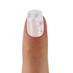 Airbrush Tips Romatic style with white purple flowers